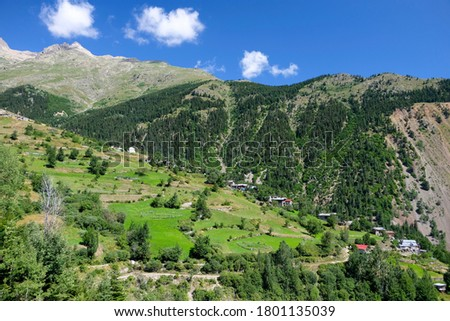 artvin province yusufeli district Özgüven )Gudasev) village Stok fotoğraf ©