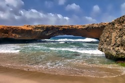 Aruba natural bridge, a tourist attraction that collapsed in 2005