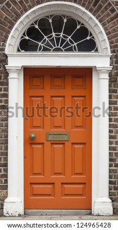 As houses were planned to look alike, Dublin citizens painted their doors in different color in the 18th century to show individuality.