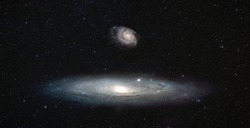 As seen by the Andromeda - Andromeda galaxy with Our galaxy is milky way