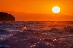 As the evening sun sets on the Black Sea coast