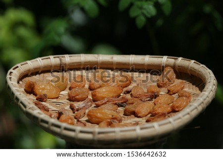 Asam sunti (Averrhoa bilimbi) is a spice typical of Aceh, Indonesia which is made from star fruit which is dried and marinated, then dried in the sun many times so that it is dry and can be stored for