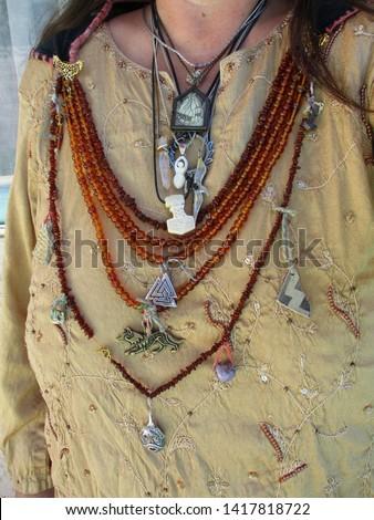 Asatru Gythia Priestess Garb Sacred Jewelry with Heathen Religious Symbols #1417818722
