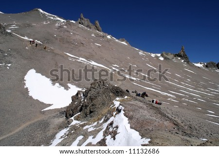 Ascending from Camp One to Camp Two on Aconcagua