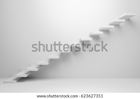 ascending stairs of rising...