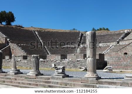 Asclepeion ancient city in Pergamon, Turkey.