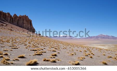 Ash cathedrals in Atacama desert in Chile.           #653005366