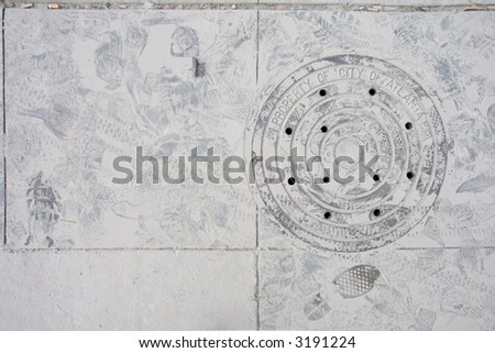 Ash covered ground - stock photo