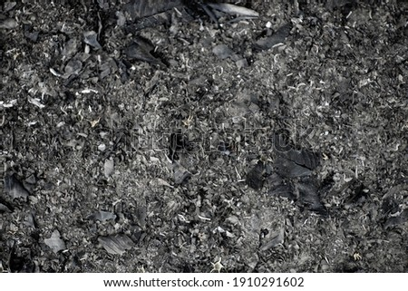 ash in fireplace natural background texture,Gray ash from the oven background texture, cinder, grey ashes from the wood from the fireplace Сток-фото ©