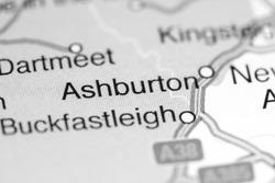 Ashburton. United Kingdom on a map