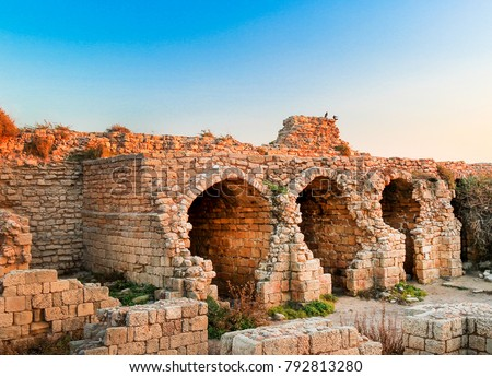Ashdod - city in Israel - the ruins of the ancient fortress