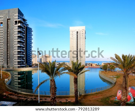 Ashdod - city in Israel - the sea park