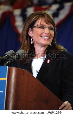 ASHEVILLE, NC - OCTOBER 26: Vice Presidential Candidate Governor Sarah Palin speaks at Asheville Civic Center October 26, 2008 in Asheville, NC