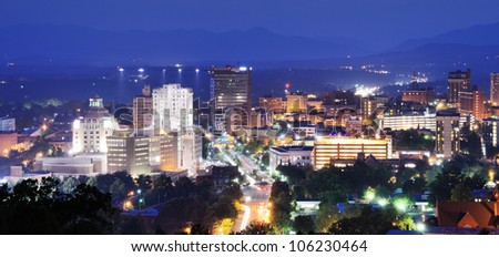 asheville skyline at night