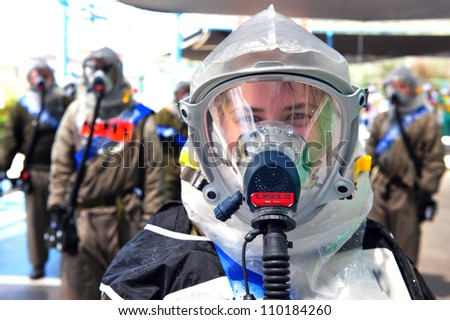 ASHKELON, ISRAEL - JUNE 23: The Israeli emergency forces held a scenario which prepared for a possible chemical and biological rocket attack on Israel on Thursday, June 23, 2010 in Ashkelon, Israel.