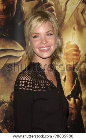 ASHLEY SCOTT at the USA premiere of The Lord of the Rings: The Return of the King, in Los Angeles. December 3, 2003  Paul Smith / Featureflash