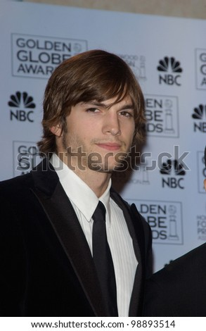 ASHTON KUTCHER at the 61st Annual Golden Globe Awards at the Beverly Hilton Hotel, Beverly Hills, CA. January 25, 2004