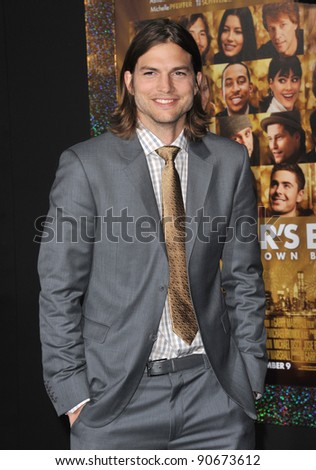 "Ashton Kutcher at the world premiere of his new movie ""New Year's Eve"" at Grauman's Chinese Theatre, Hollywood. December 5, 2011  Los Angeles, CA Picture: Paul Smith / Featureflash"