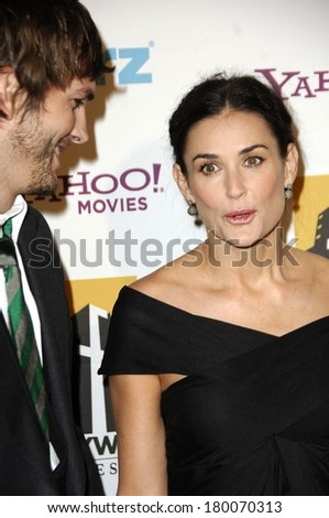 Ashton Kutcher, Demi Moore at Hollywood Film Festival 10th Annual Hollywood Awards, The Beverly Hilton Hotel, Beverly Hills, CA, October 23, 2006