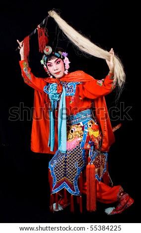 asia asina Cantonese beijing chinese opera horsetail whisk