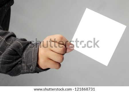 asia business successfully carry the message envelope, isolated on gray background