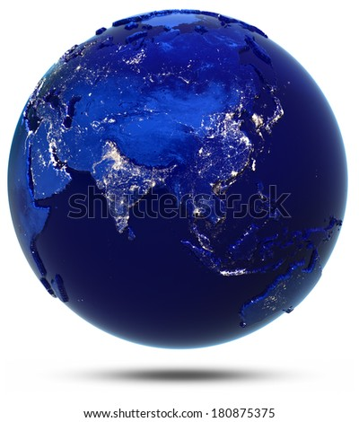 Asia continent and countries Elements of this image furnished by NASA