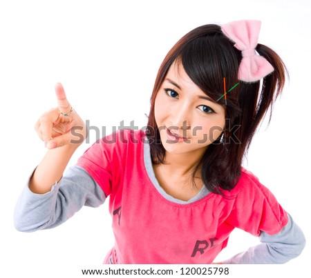 asia cute girl   contact,lens,spring,eyes,finger,click