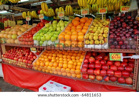 Asia fruit market