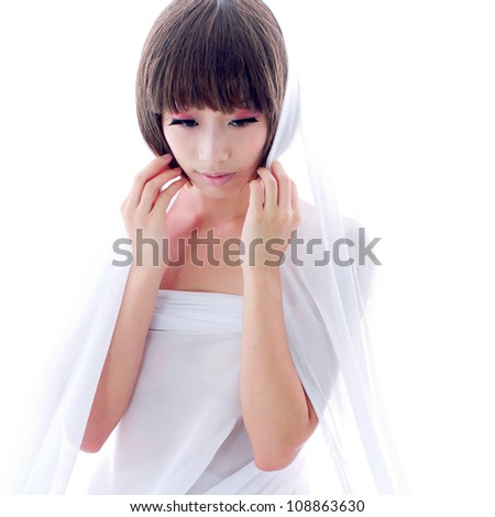 asia girl - stock photo