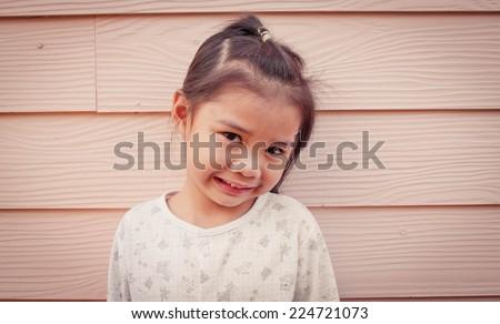 Asia girl smile