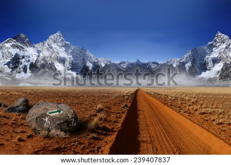 Asia, Himalaya, mountain climbing, the foot of the mountain #239407837