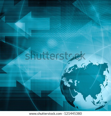 Asia map technology style artwork for your design