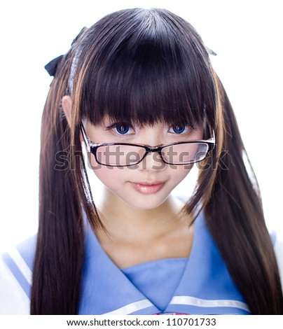 asia school girl - stock photo