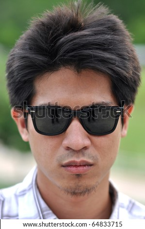 Asia Thailand Man Face Sunglasses
