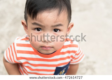 asian baby boy look up #472614727