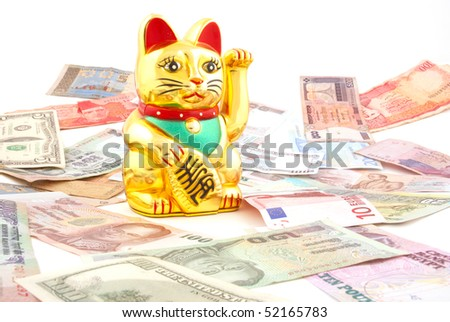 Asian beckoning cat meant to bring success in business