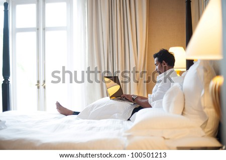 Asian Business Man in Room - stock photo