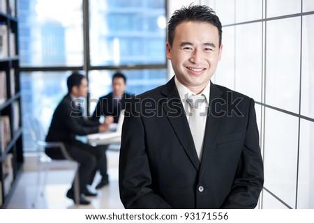 Asian Business Man Smiling