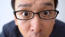 asian business man staring something
