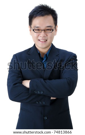 asian business man with hands crossed