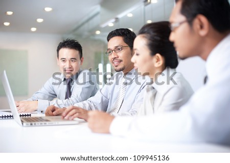 Asian business Team In Meeting #109945136