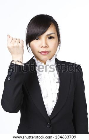 Asian business woman in studio