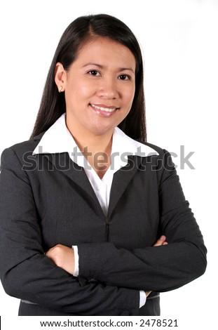 Asian Business Woman Isolated