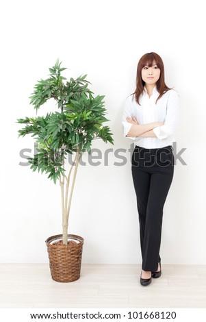 asian business woman relaxing