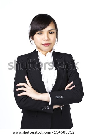 Asian businesswoman in studio