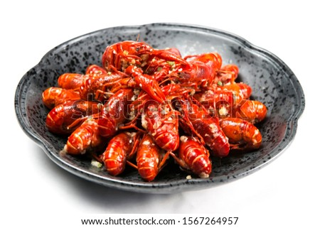 Asian Chinese cuisine fried lobster ストックフォト ©