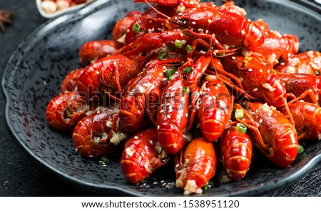 Asian Chinese Food Spicy Crayfish ストックフォト ©