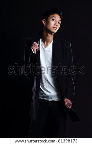 stock photo asian chinese young very slim tall attractive