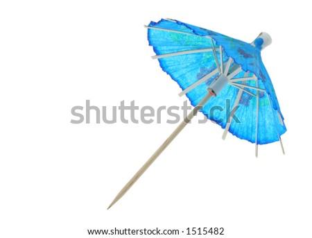 asian cocktail umbrella - pure white background #2
