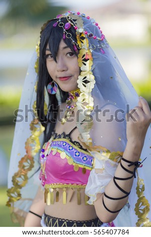 Asian Cosplay Girl Japanese Style